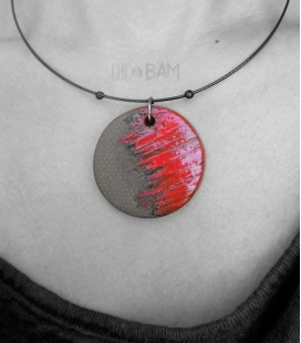 collier CERAMIQUE rouge