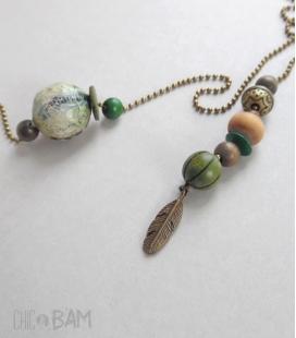 collier LASSO bronze / vert