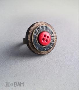 bague BOUTON coco / rivet