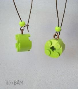 boucles LÉGOS rond vert / fluo