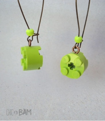boucles LÉGO rond vert / fluo