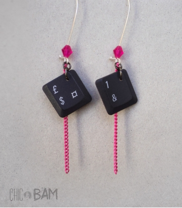 boucles GEEK PC / rose violet