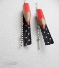 boucles CRAYONS rouge / pois