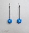 boucles fleurs HAMA bleu