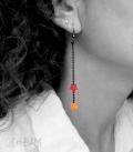 boucles ÉTOILES rouge / orange