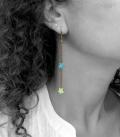 boucles ÉTOILES bleu / vert