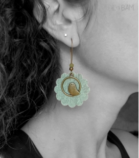 boucles LIBERTY jungle vert