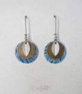 boucles LIBERTY jungle bleu / feuille