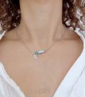 collier TYPO turquoise / lune
