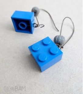 boucles LÉGOS bleu / béton