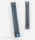 bracelet CUIR nubuck bleu reversible