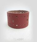 bracelet CUIR brique