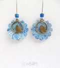 boucles LIBERTY jungle bleu
