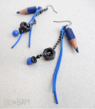 boucles CRAYONS bleu / boulons