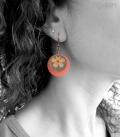 boucles FLEURS bronze / orange