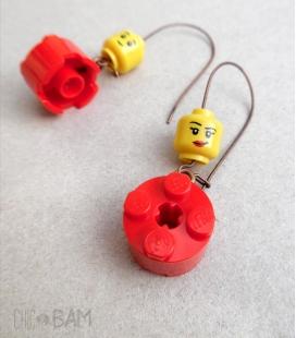 boucles LÉGOS rouges pin-up