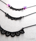 collier DENTELLE noir long