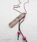 sautoir GRI-GRI fleurs / rose