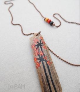 sautoir GRI-GRI cuivre / fleurs