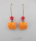 boucles LÉGOS oranges / étoiles
