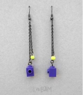 boucles LÉGOS violets / fluo